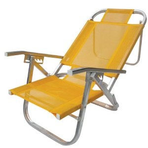 Cadeira De Praia Reinclinavel Piscina Varanda Alumínio 120kg