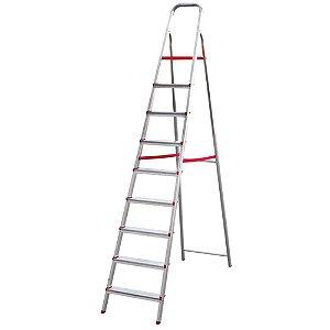 Escada Aluminio Dobravel Leve 9 Degraus Esc0068 Botafogo