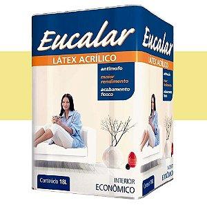Tinta Acrílica 18 Litros Int. Eucalar Latex Amarelo Canário