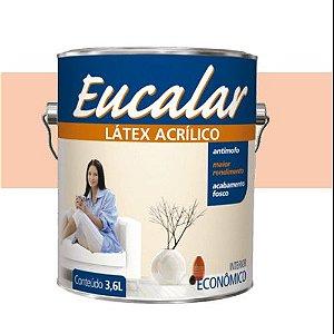 Tinta Acrílica 3,6 Litros Interno Eucalar Latex Pêssego