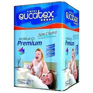 Tinta Acrilica Semi Brilho Premium Eucatex Marfim 18lts.