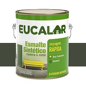 Tinta Esmalte Sintético Eucalar Cinza Escuro 900 Ml Eucatex