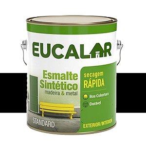 Tinta Esmalte Sintético Eucalar Preto 900 Ml Eucatex