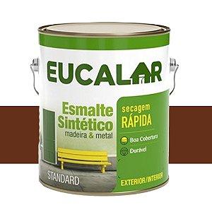 Tinta Esmalte Sintético Eucalar Tabaco 900 Ml Eucatex