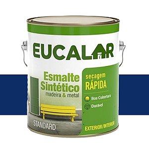 Tinta Esmalte Sintético Eucalar Azul Del Rey 900 Ml Eucatex