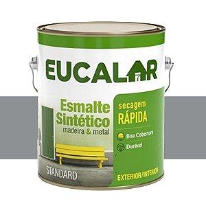 Tinta Esmalte Sintético Eucalar Aluminio Br 900 Ml Eucatex