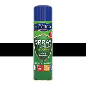 Tinta Spray Multiuso Metalizado Eucatex 400ml - Preto