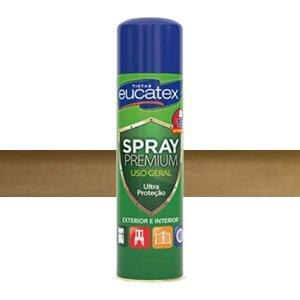 Tinta Spray Metalizado Cor Ouro Clássico 400ml Eucatex