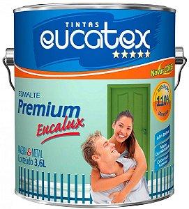 Tinta Esmalte Premium Fosco Cor Branco 3,6l Eucatex
