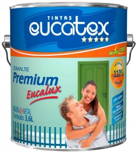 Tinta Esmalte Premium Fosco Cor Preto 0,9l Eucatex