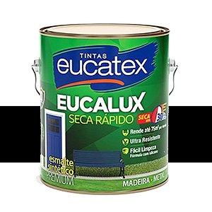 Tinta Esmalte Premium Fosco Cor Preto 3,6l Eucatex