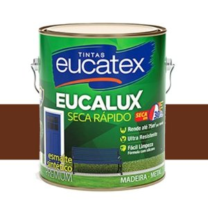 Tinta Eucalux Esmalte Premium Tabaco 225 Ml Eucatex