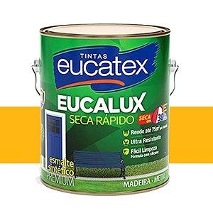 Tinta Eucalux Esmalte Premium Amarelo 225 Ml Eucatex