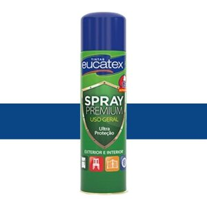Tinta Spray Multiuso Cor Azul Claro Brilhante 400ml Eucatex