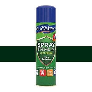 Tinta Spray Multiuso Cor Verde Escur Brilhante 400ml Eucatex
