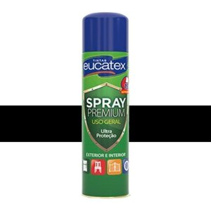 Tinta Spray Multiuso Cor Preto Fosco 400ml Eucatex