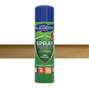 Tinta Spray Metalizado Cor Ouro 400ml Eucatex