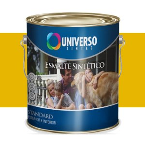 Tinta Universo Esmalte Sintetico Stand Amarelo 225ml