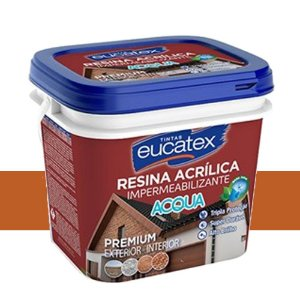 Resina Acrílica Base Água Cerâmica Telha Eucatex 900 Ml