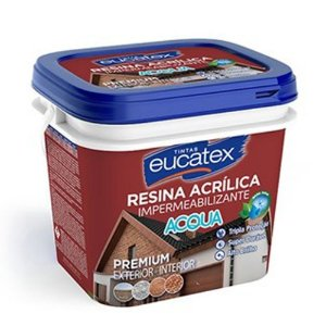 Resina Acrílica Base Água Incolor Eucatex 900 Ml