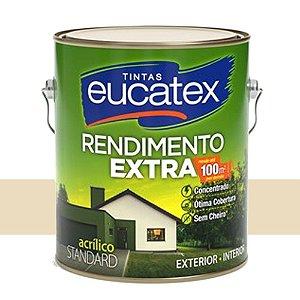 Tinta Acrílico Rendimento Extra Areia 3,6 Lts Eucatex