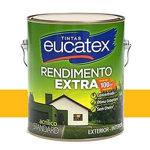 Tinta Acrílico Rendimento Extra Amarelo Ouro 3,6 Lts Eucatex