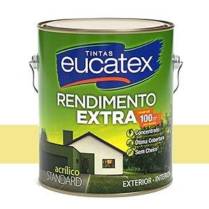 Tinta Acrílico Rendimento Extra Amarelo Canário 3,6l Eucatex
