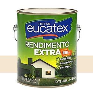 Tinta Acrílico Rendimento Extra Palha 3,6 Lts Eucatex