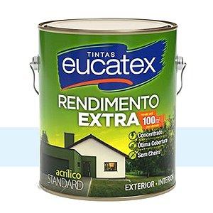 Tinta Acrílico Rendimento Extra Azul Praia 18 Lts Eucatex