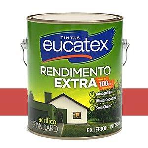 Tinta Acrílico Rend. Extra Vermelho Cardinal 3,6 Lts Eucatex