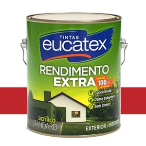 Tinta Acrílico Rendimento Extra Cereja 3,6l Eucatex