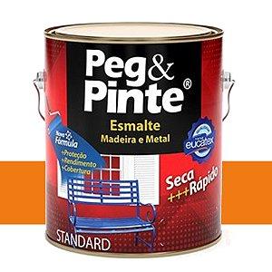 Tinta Esmalte Sint Peg & Pinte Laranja 3,6 L Eucatex
