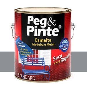 Tinta Esmalte Sintético Peg & Pinte Aluminio 0,9 L Eucatex