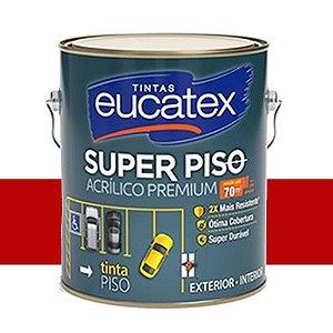 Tinta Super Piso Acrílico Premium Eucatex 3,6 Lts Vermelho