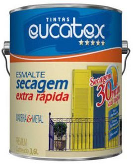 TINTA EUCATEX ESM BRI SEC EX RAPIDO COR: MARFIM - 0,9 LT