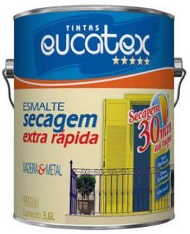 TINTA EUCATEX ESM BRI SEC EX RAPIDO COR: ALUMINIO - 0,9 L