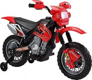 Moto Elétrica Infantil 925800 Vermelho Luz De Farol Buzina