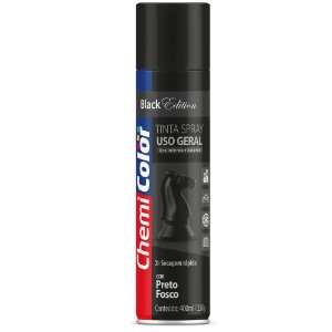 TINTA SPRAY CHEMICOLOR 400 ML U.G - PRETO FOSCO 0680096