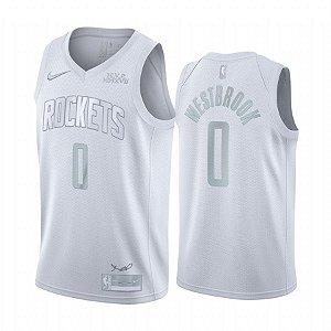 Camisa Rockets 0 White Edição MVP - Masculina