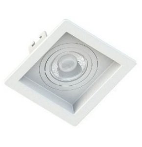 Spot de Embutir Quadrado Click para 1 Dicroica Branco SE-330.1032