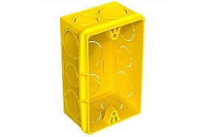 Caixa de Luz Plástica Retangular 4x2 Amarelo Amanco