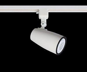 Spot para Trilho Eletrificado DUO PAR-20 E-27 Branco Fosco