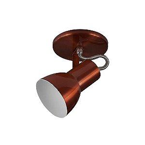 Spot Cone para 1 Lâmpada E27 Cobre SP1905-1