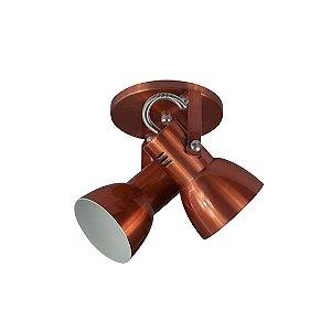 Spot Cone para 2 Lâmpadas E27 Cobre SP1905-2