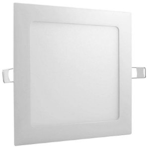 Placa de Led de Embutir Quadrada Luz Neutra 12W