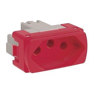 Tomada 2P+T 20A Vermelha Schneider Miluz S3B70359