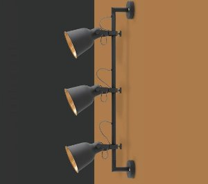 Arandela Pixar 100cm Preto Opus DN 37578