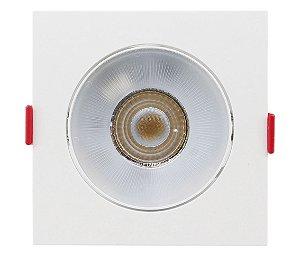 Spot de Embutir Quadrado Direcionável 7W 3000K Opus ECO 33037