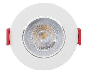 Spot de Embutir Redondo Direcionável 3W 3000K Opus ECO 33013
