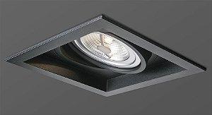 Spot Face Recuada Aluminio AR111 Preto Opus HM 39015